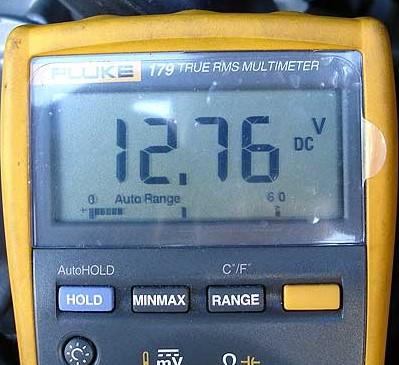 multimeter voltage reading
