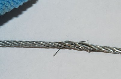 damaged steering cable